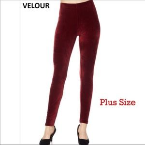 New Holiday Red Velour PS Legging